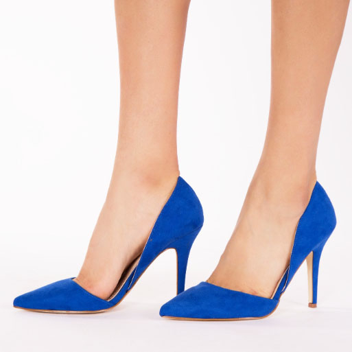 PANTOFI sTILETTO BLUE DECUPATI LATERAL ANTONIA 7