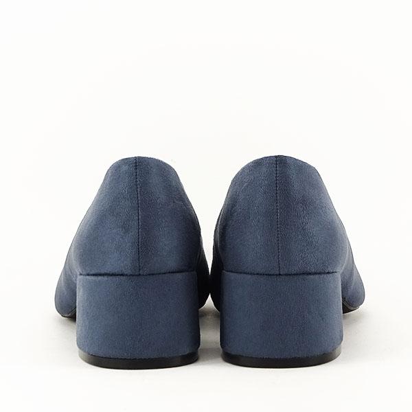 Pantofi albastru petrol cu toc mic Carla [6]