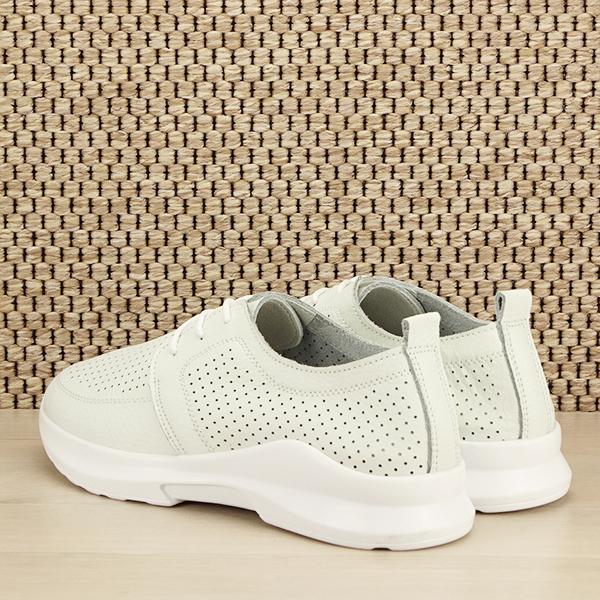 Pantofi albi din piele naturala Angela [3]