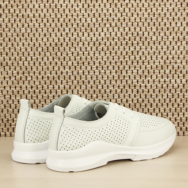 Pantofi albi din piele naturala Angela [4]