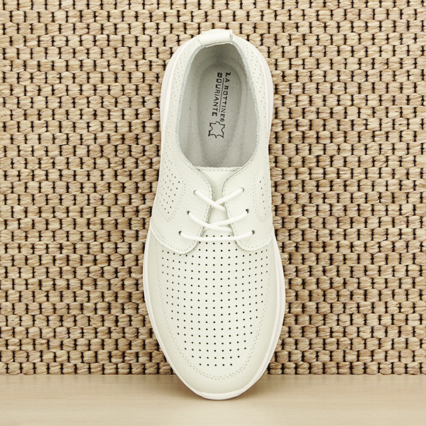 Pantofi albi din piele naturala Angela [6]