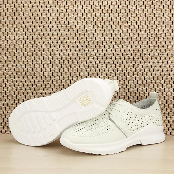 Pantofi albi din piele naturala Angela [7]