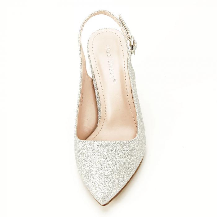 Pantofi argintii decupati Pamela [6]