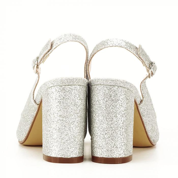 Pantofi argintii decupati Pamela [3]