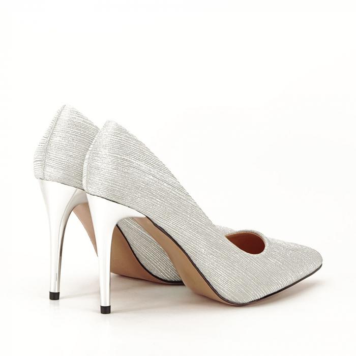 Pantofi argintii eleganti Nina 2