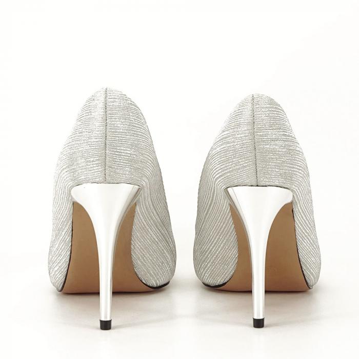 Pantofi argintii eleganti Nina 3