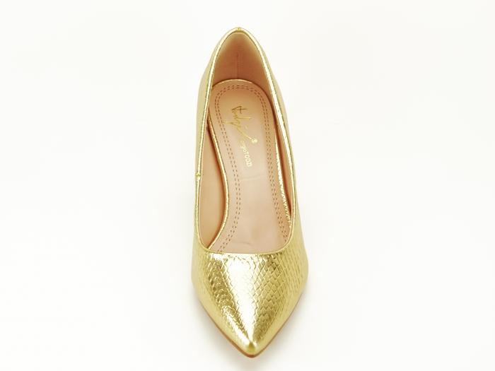 Pantofi aurii cu imprimeu de sarpe Ami 3