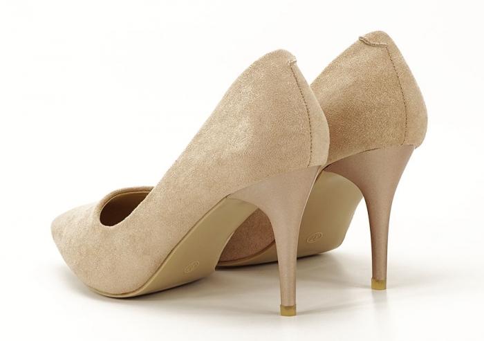 Pantofi aurii cu toc mediu Freya 6