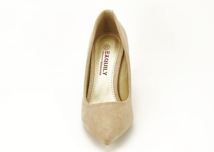 Pantofi aurii cu toc mediu Freya 4