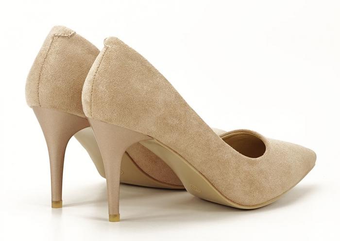Pantofi aurii cu toc mediu Freya 2