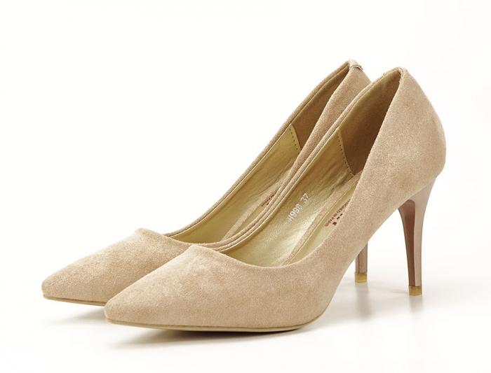 Pantofi aurii cu toc mediu Freya 0