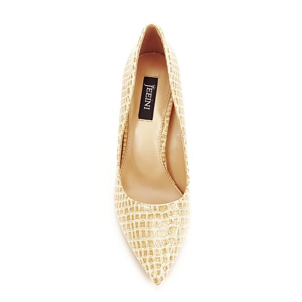 Pantofi bej cu imprimeu Alice [5]
