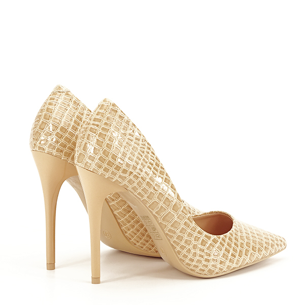 Pantofi bej cu imprimeu Alice [4]