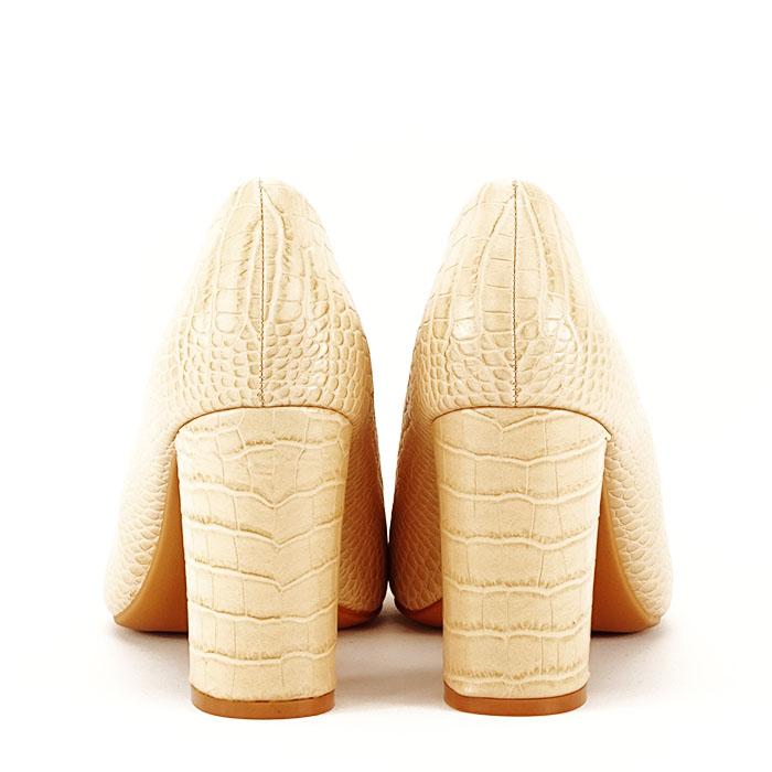 Pantofi bej cu imprimeu Dalma 6