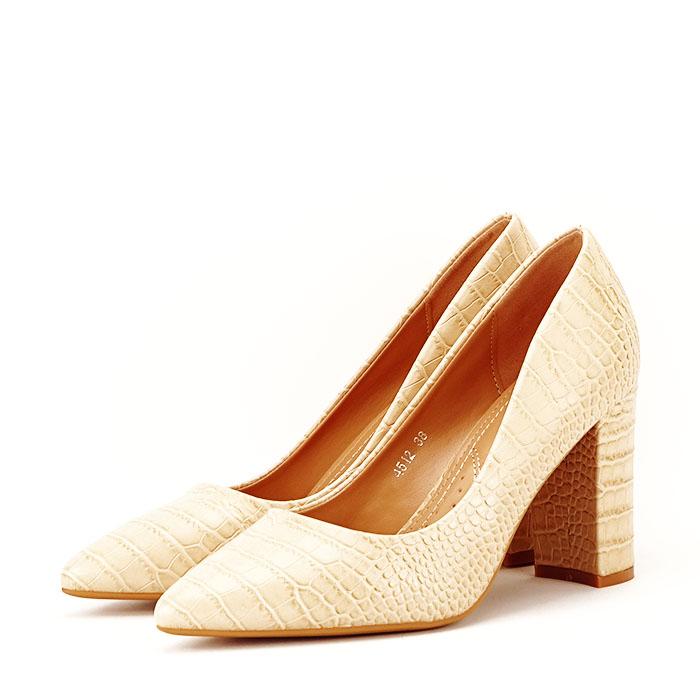 Pantofi bej cu imprimeu Dalma 1