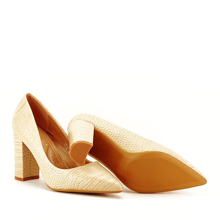 Pantofi bej cu imprimeu Dalma 4