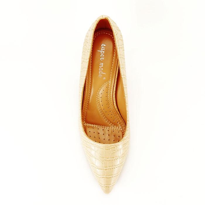 Pantofi bej cu imprimeu Dalma 2