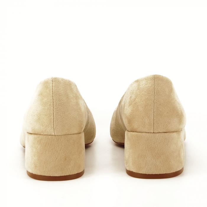 Pantofi bej cu toc mic Carla [3]