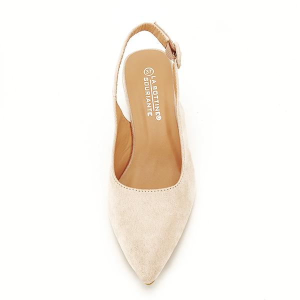 Pantofi bej cu toc mic Simina [6]