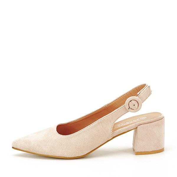 Pantofi bej cu toc mic Simina [1]