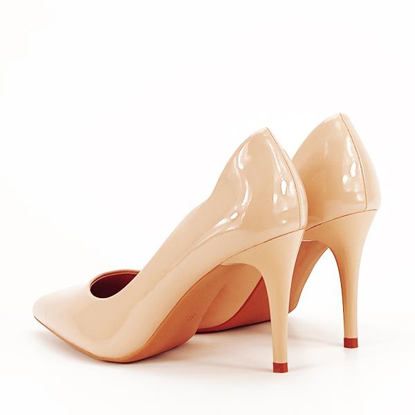 Pantofi bej lacuiti Tiffany [3]