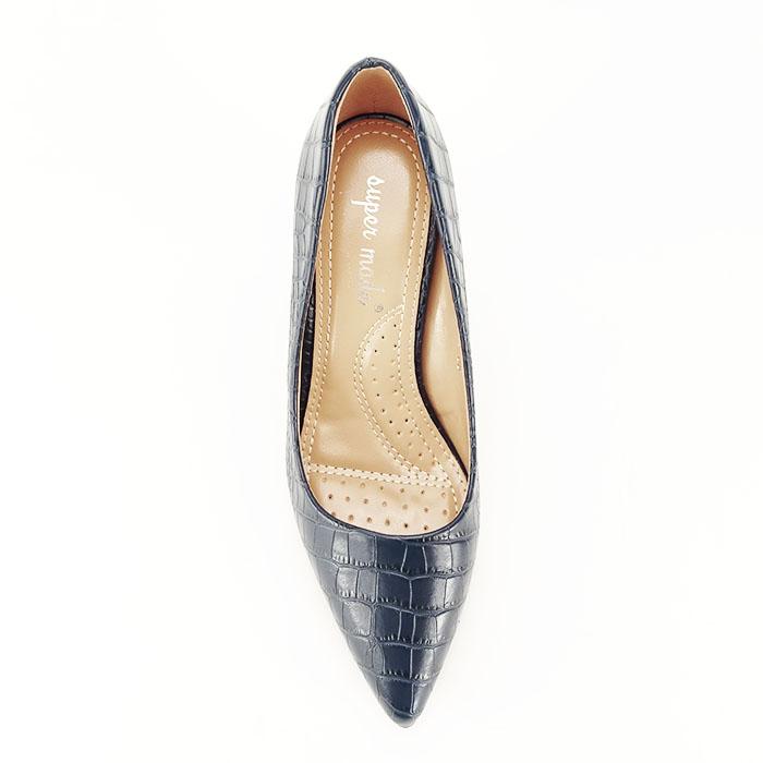 Pantofi bleumarin cu imprimeu Dalma 2