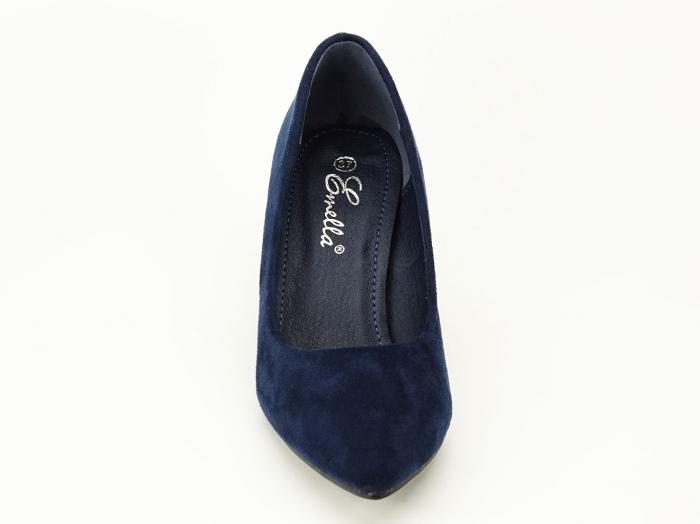Pantofi bleumarin cu sclipici pe toc Lari 3
