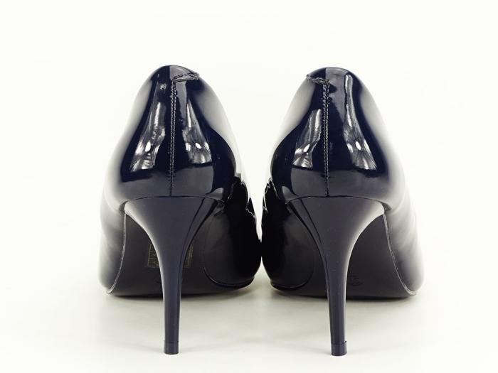 Pantofi cu toc bleumarin de lac Helga 6