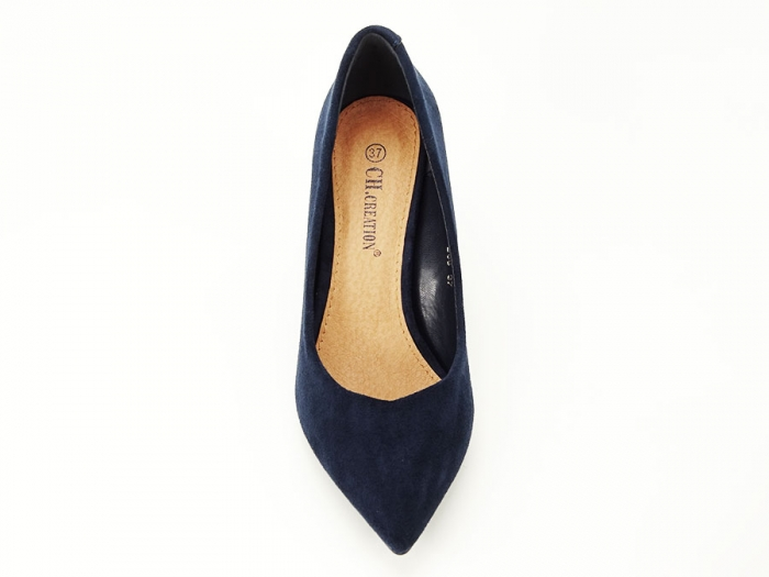 Pantofi bluemarin cu toc gros Anina 4