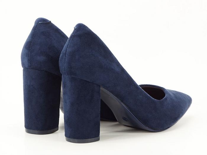 Pantofi bluemarin cu toc gros Anina 6