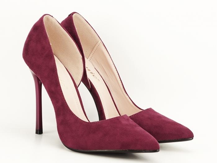 Pantofi stiletto bordo decupati lateral Aniston 3