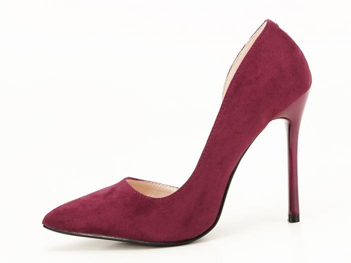 Pantofi stiletto bordo decupati lateral Aniston 2