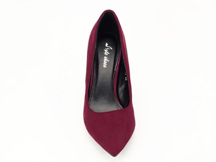 Pantofi eleganti bordo Hilda 3