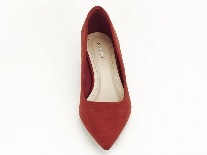 Pantofi caramizii cu toc mic Carla 3