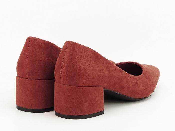 Pantofi caramizii cu toc mic Carla 7
