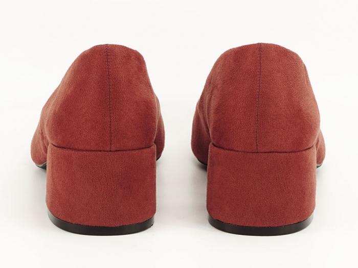 Pantofi caramizii cu toc mic Carla 6