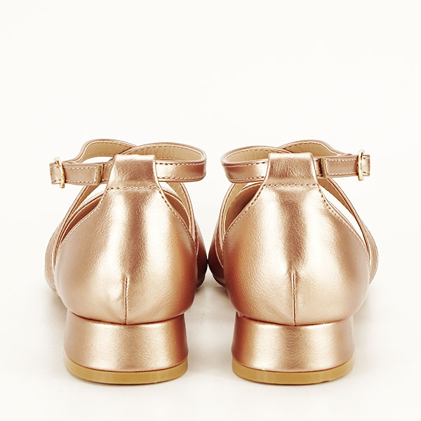 Pantofi champagne cu toc mic Carmen [5]
