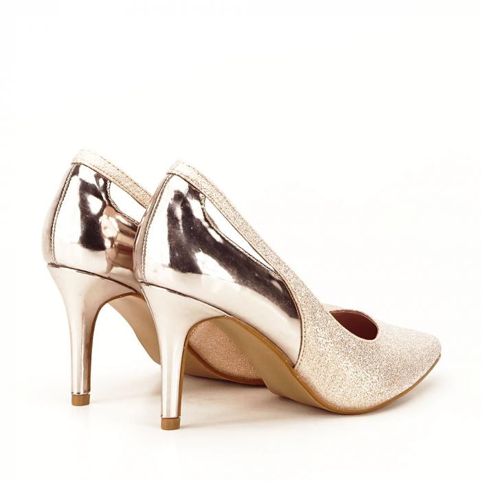 Pantofi champagne eleganti Melania [5]