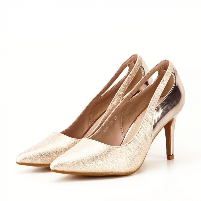 Pantofi champagne eleganti Melania [1]