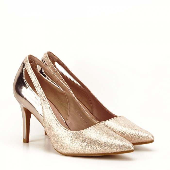 Pantofi champagne eleganti Melania [4]