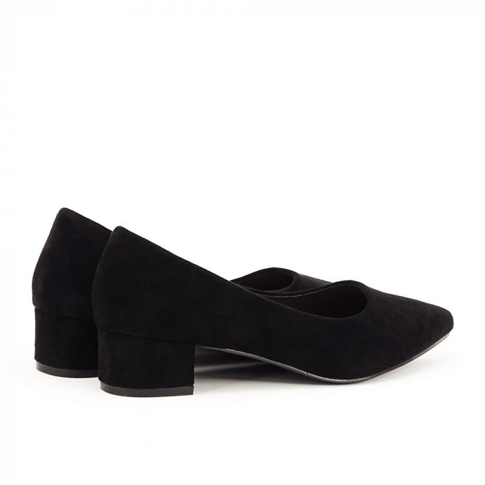 Pantofi negri cu toc mic Elisa 3