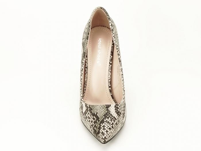 Pantofi eleganti cu imprimeu de sarpe Elvira 3