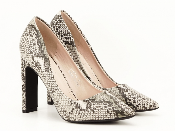 Pantofi eleganti cu imprimeu de sarpe Elvira 2