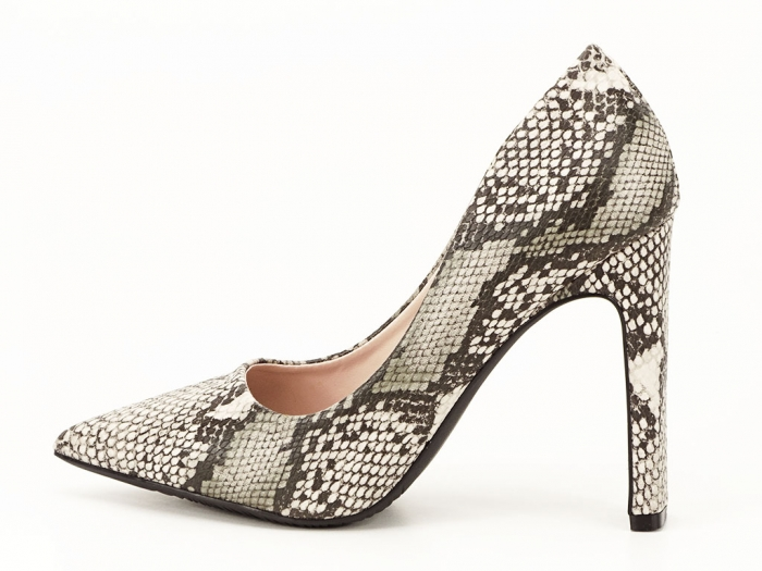 Pantofi eleganti cu imprimeu de sarpe Elvira 0