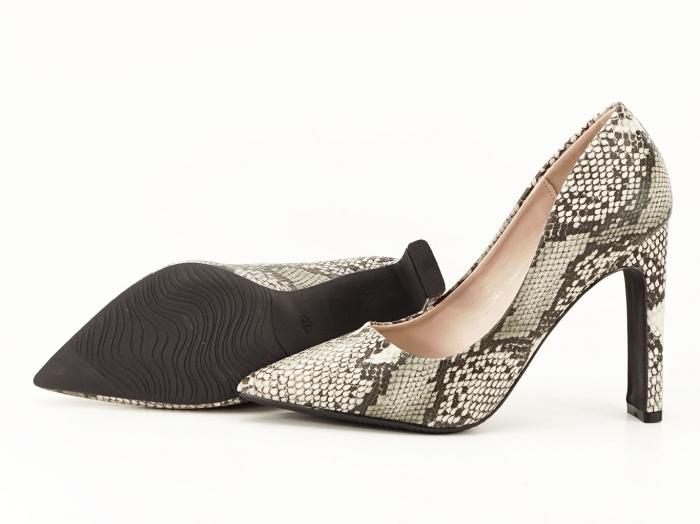 Pantofi eleganti cu imprimeu de sarpe Elvira 4
