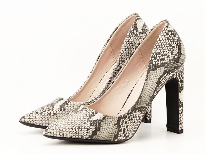 Pantofi eleganti cu imprimeu de sarpe Elvira 5