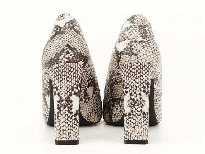 Pantofi eleganti cu imprimeu de sarpe Elvira 6