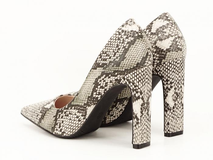 Pantofi eleganti cu imprimeu de sarpe Elvira 1