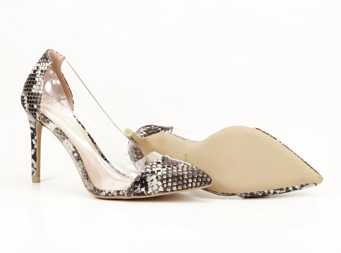Pantofi cu imprimeu leopard si silicon lateral Athena 2
