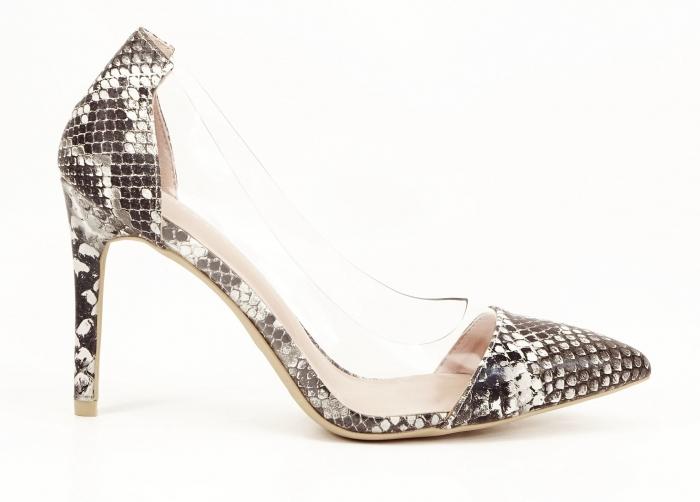 Pantofi cu imprimeu leopard si silicon lateral Athena 0